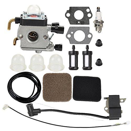 Milttor C1Q-S71 C1Q-S97 C1Q-S66 Carburetor Ignition Coil Fit Stihl FS75 FS80 FS80R FS85 FS85R FS85T FS85RX FC85 FC75 HL75 HT70 HT75 Trimmer