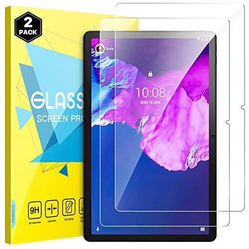 MoKo Protector de Pantalla Compatible con Lenovo Tab P11 11-Inch 2020 (TB-J606F / TB-J606X), [2 PCS] [Rasguño Terminador] Premium HD Claro Dureza 9H Vidrio Templado Protector, Cristal Claro