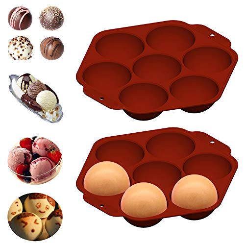 Fragarn Silicone Mold For Chocolate,1PC Hot Chocolate Bomb Baking Mold, for Cake, Jelly, Pudding, Handmade Soap,BPA Free Cupcake Baking Pan(A21)