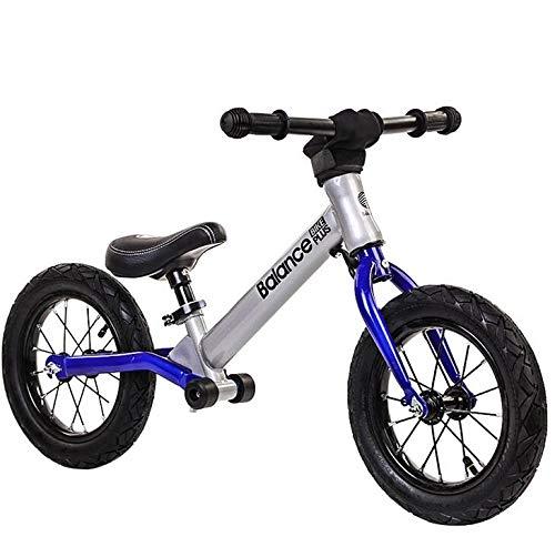 TOYSBBS Bicicleta Kawasaki Balance sin Pedales para Niños de 3 Años de Fácil Manejo y Ruedas de Goma Eva,Azul
