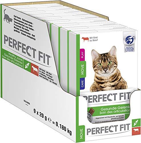 Perfect Fit Gesunde Gelenke – Katzensnack für gesunde Gelenke & mehr Beweglichkeit – Mit Rind – Unterstützt die Mobilität – 9 x 10 Sticks