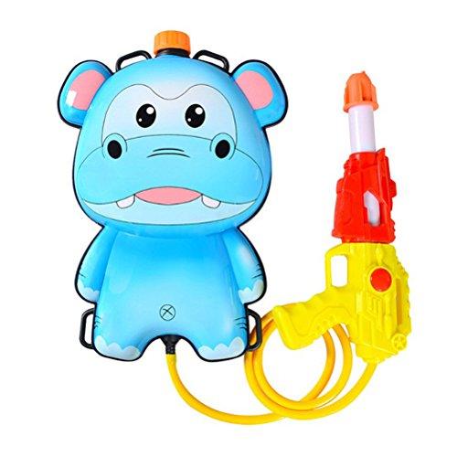 Toyvian Kinder Rucksack Hochdruck Pull Typ Wasser Spielzeug Soaker Spritzen Blaster Spielzeug Cartoon Tier Druck Pool Strand Spiel Spielzeug