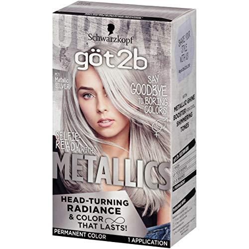Got2b Metallic Permanent Hair Color, M71 Metallic Silver