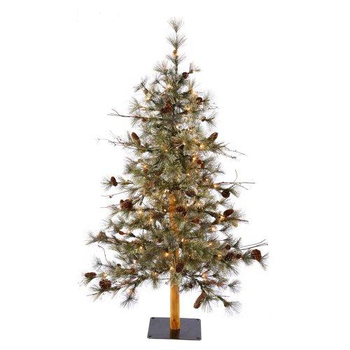 Vickerman 70-Piece Dakota Alpine Tree, 4-Feet, Clear