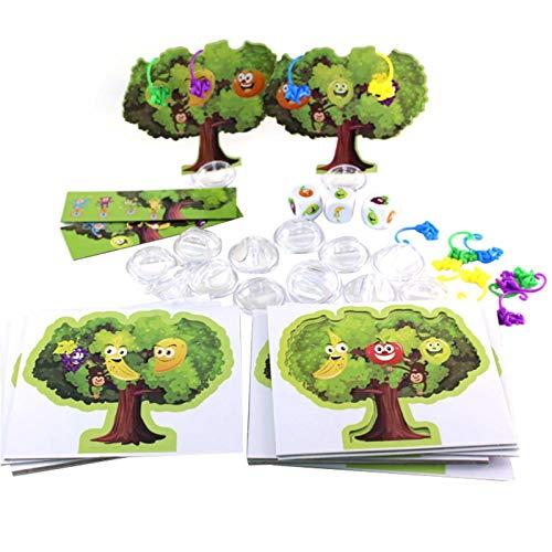 Ishine Juguetes para niños pequeños mono árbol escalada juego fruta árbol niños juguete educativo temprano juego de mesa de los niños juguetes regalos para niños
