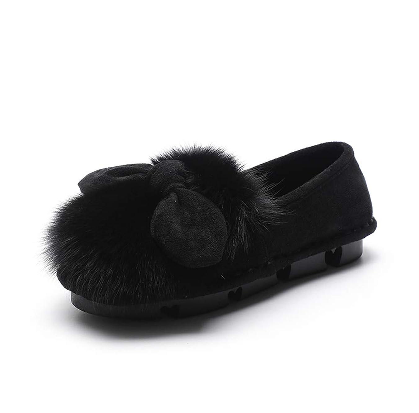 グラディスマガジン出しますファーパンプス リボン フラットシューズ パンプス ファー リボン もこもこ あったか ぺたんこ 可愛い シューズ 靴 秋冬 モカシン 歩きやすい 痛くない フラット ペタンコ 柔らかい ローファー スリッポン おしゃれ 裏起毛