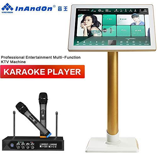 Check Out This Karaoke Machine with Lyrics Display, InAndOn X5 New Gen One-piece Type Professional E...