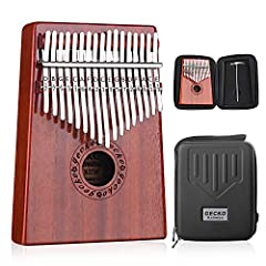 High-quality Materials: Handmade with high-quality mahogany and ore steel bars, giving you a better sense of hearing, vision and touch. Wonderful Sound: Without any music basis, you just move your thumb to get the wonderful music that delights your d...