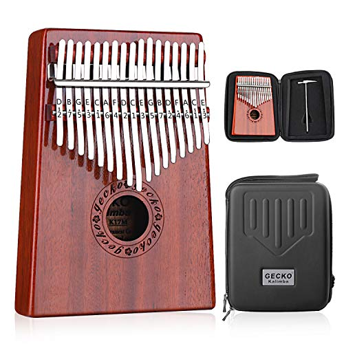 4. GECKO Kalimba 17 Keys Thumb Piano