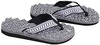 Summer Soft Casual Men Flat Wedge Sandals Thong Flip Flops Slippers Beach (Color : Black, Shoe Size : 41)