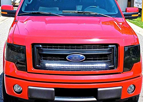 30 180W LED Straight Light Bar with Wiring Kit /& Behind Hidden Grille Mount Brackets for 2009-2014 Ford F150 Pickup 2WD//4WD