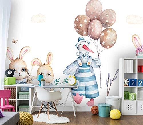 Fotobehang Animal Konijn Kinderkamer Decoratie 300x210CM