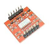 ZTSHBK Módulo IC optoaislador de 4 Canales y 4 Canales TLP281 para Placa de expansión Arduino, Aislamiento de optoacoplador de Alto y bajo Nivel, 4 Canales