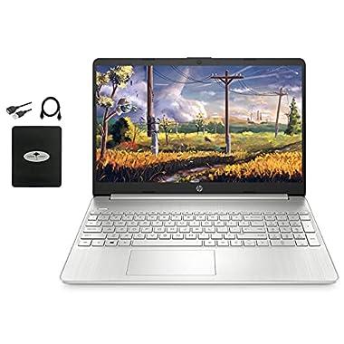 HP 15.6″ FHD Laptop for Business & Student, AMD Athlon Silver 3050U (up to 3.2GHz, Beat i5-7200U), 16GB RAM, 512GB SSD, AMD Radeon Graphics, HDMI, Webcam, Windows 10 w/Ghost Manta Accessories