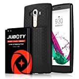 LG G4 BL-51YF Battery,JUBOTY 6800mAh Extended Battery and Black Back Cover and TPU Case for LG G4 US991 H812 H815 H810 H811 LS991 VS986/LG BL-51YF Battery(24 Month Warranty)
