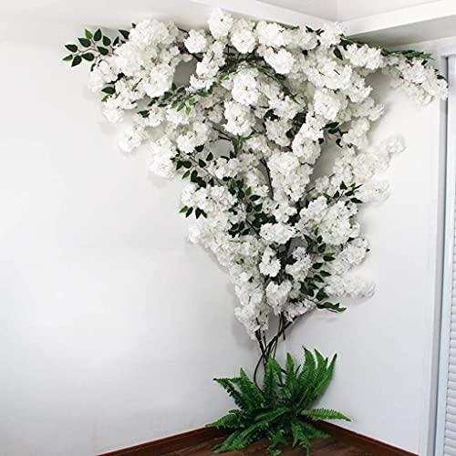 XJZKA Árbol de Flor de Cerezo Artificial Guirnalda de Seda Hogar Decoración de Fiesta de Boda Árbol de simulación Decoración de Pared Interior al Aire Libre, C