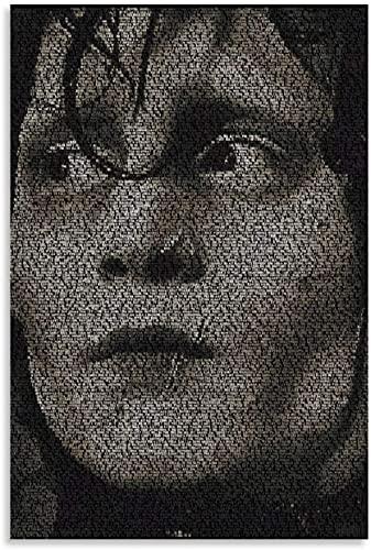 Rompecabezas Adultos Niños Puzzle 300 Piezas Eduardo manos de tijera 300 Piece 15.7x11inch(40x28cm) Sin Marco
