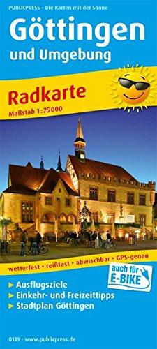 Göttingen und Umgebung: Radkarte mit Ausflugszielen, Einkehr- & Freizeittipps und Stadtplänen, wetterfest, reissfest, abwischbar, GPS-genau. 1:75000 (Radkarte / RK)