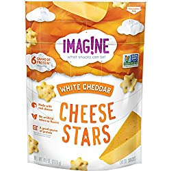 Imag!ne White Cheddar Cheese Stars, 4.5 Ounce Bag