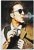 ZRRTTG Leinwand Malerei Bild Nicolas Cage Filmschauspieler