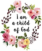 I am a child of God: Bible Verse Notebook and Daily Planner Floral Composition Notebook 132 Pages 8