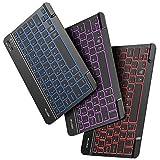 OMOTON iPad Keyboard, Wireless Bluetooth Backlit Keyboard for iPad 8th 7th Generation 10.2, iPad Pro 11/12.9, iPad Air 10.9/10.5, iPad Mini, 7-Color Backlit/Rechargeable/Ultra-Slim