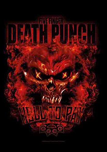 5 doigts Death Punch – Clair to Pay – poster drapeau 100% polyester – 75 x 110 cm