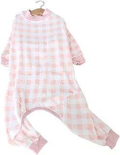 Hdwk&Hped Soft Cotton Medium Large Dog Pajamas Breathable Warm Jumpsuit Style Pet Pjs #6-#9