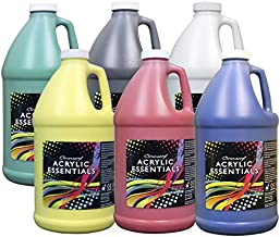 Chroma Acrylic Essential Set, 1/2 Gallon Jugs, Assorted Primary Colors, Set of 6 - 59001