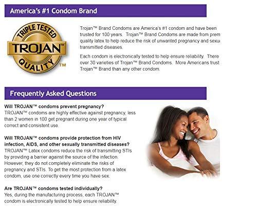 Trojan Pleasure Pack Premium Lubricated Latex Condoms, 40 Count (Fire & Ice)