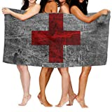 N/A Reisehandtuch,Badetücher,Saunatuch,Handtücher,Flagge Der Schweiz Red Soft Strandtuch Für Reisen Schwimmen Yoga Camping 80X130Cm