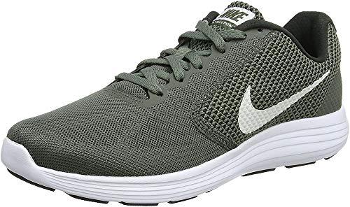 NIKE Men Revolution 3 Athletic Shoe,Green (River Rock/Vintage Green/White 020),9.5 UK (44.5 EU) (10.5 US)
