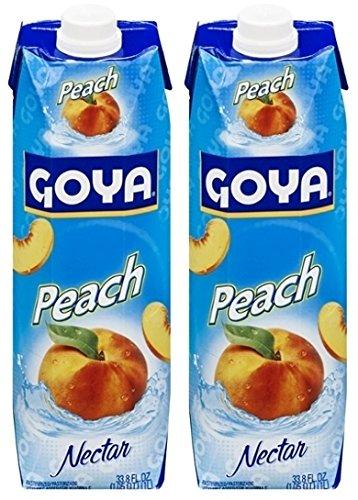 Goya Peach Nectar 33.8 Fl.Oz. (Pack of 2)