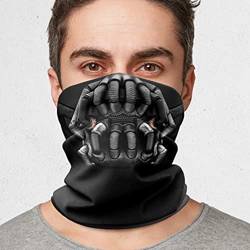Cool Bedding - Ghetta per collo a bandana, motivo cavaliere scuro, passamontagna stampato, tubo sciarpa, rivestimento viso scuro | B18 (5 bandane nave gratis)