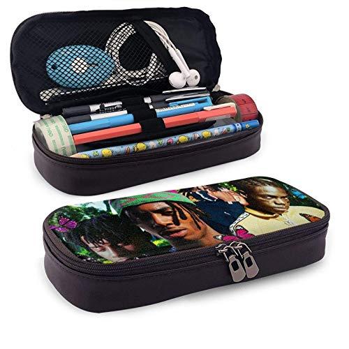 XCNGG Playboi Carti Estuche para bolígrafos con cremallera Estuche para lápices de cuero de moda Estuche para lápices de gran capacidad para estudiantes Estuche para lápices para bolígrafos, lápices,