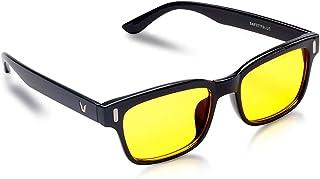 Gafas azules protectoras - Gafas de ordenador retro de montura gruesa - para mujeres y hombres - Bloqueo de la luz azul y ultravioleta para reducir los dolores de cabeza y la fatiga ocular