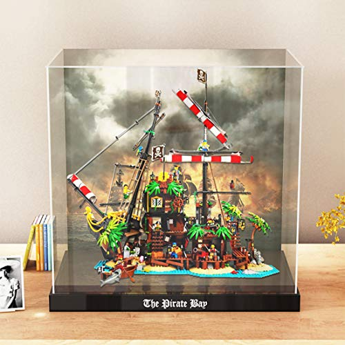 TETAKE Vitrine Staubdicht Acryl Display Case für Lego Pirates of Barracuda Bay Ideas 21322 (Nicht Enthalten Lego Modell)