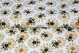 Stenzo – Jersey Stoff mit Bienen I Digital Druck