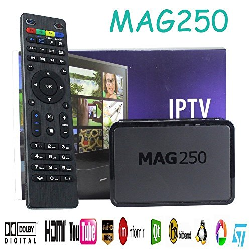 OxoxO MAG 250 IPTV Set Top Box With Remote Control Multimedia Player Internet TV IP HDTV 1080p Support USB Wifi VoD Middleware