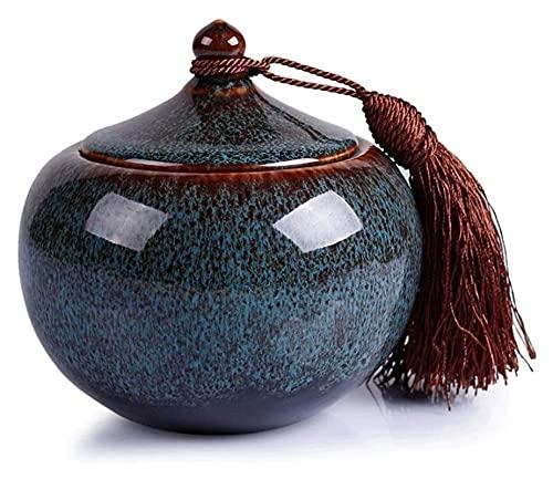 MTCWD Cremación de Mascotas urna para Cenizas Cenizas humanas pequeñas urnas conmemorativas Grandes Horno Variable cerámica sellada Recuerdo Jarra (Color : B, Size : 12x12cm)