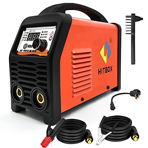 HITBOX 110/220V Dual Voltage MMA Welder, 200A ARC Welding Machine with Lift Tig Function, IGBT Digital Smart VRD Hot Start Welder fits Below 4.0 mm Welding rods