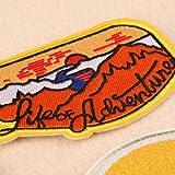 9 piezas Patch Sticker, parches bordados, Parches ropa Termoadhesivos, Parches ropa, Parches bordados cosidos, insignia de parche bordado para la camiseta Jeans Ropa Bolsas