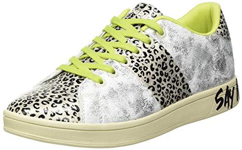 Desigual Low, Sneakers Woman Donna, Argento Opaco, 38 EU