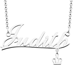 Cherris Crown Personalized Name Necklace Semi-Customized Monogram Love Necklace