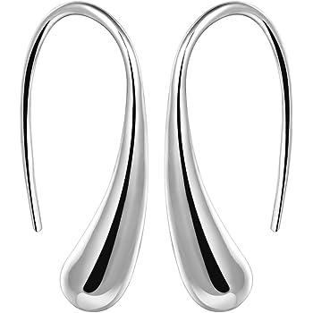 New Fashion Jewelry Tear Drop Hook 925 Sterling Silver Hoop Earring Hot Sale