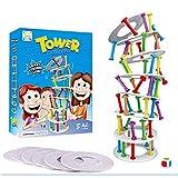 KUTO Kinder Stapeln Spiele Turm Holz Stapeln Spiel, Frühes Lernspielzeug für Kinder, Schiefen Turm von Pisa Desktop-Spielzeug Jengdengle Pumpstöcke Und Bausteine ??Multiplayer Interaktives Spiel