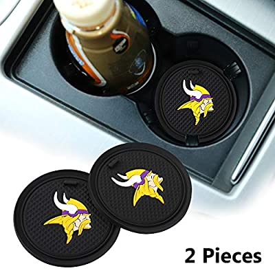 2 Pack 2.75 inch for Vikings Car Interior Accessories Anti Slip Cup Mat for All Vehicles (Vikings)