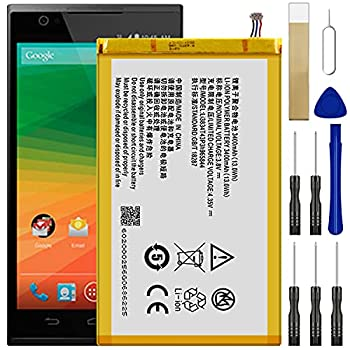 for MetroPCS ZTE ZMAX Z970 Replacement Battery,for Li3834T43P3h965844 Battery with Adhesive Tape Tool Repair Kit
