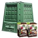 compostiera ecobox fast 380 lt + 2 confezioni di attivatore compostaggio kg 4