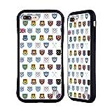 Head Case Designs Licenciado Oficialmente West Ham United FC Patrón 6 Crest History Carcasa híbrida Compatible con Apple iPhone 7 Plus/iPhone 8 Plus